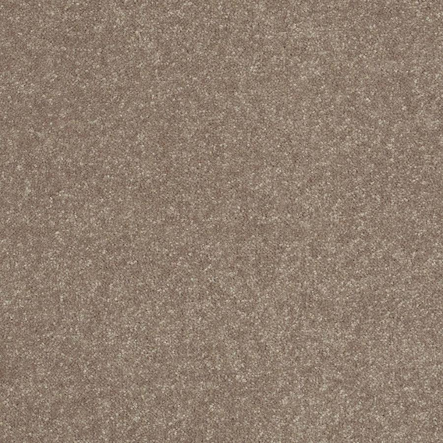 Shaw 15-ft W x Cut-to-Length Brown/Tan Textured Interior Carpet