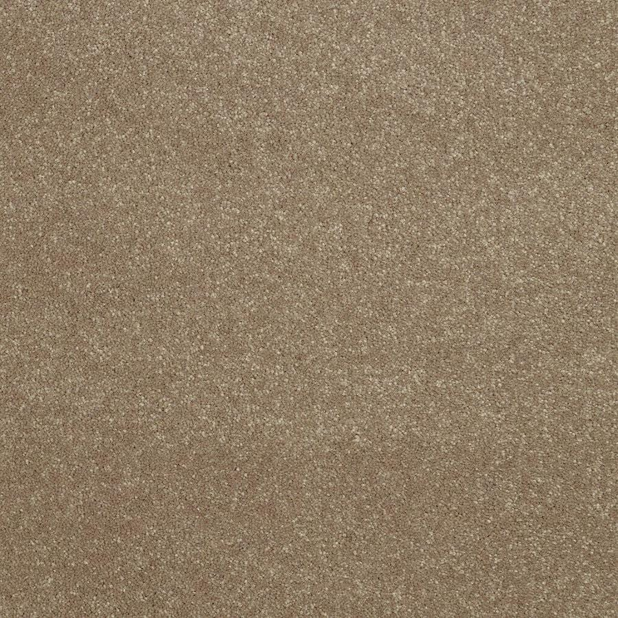 Shaw 12-ft W x Cut-to-Length Brown/Tan Textured Interior Carpet