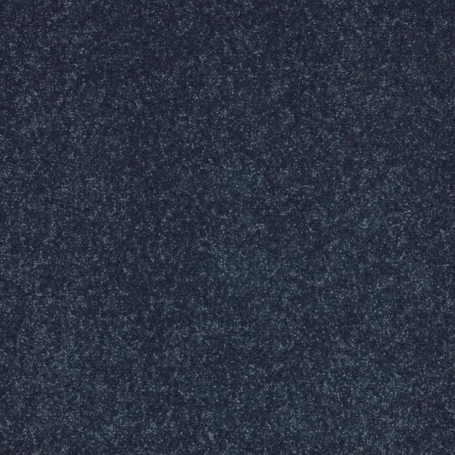 Shaw 12-ft W x Cut-to-Length Blue Textured Interior Carpet