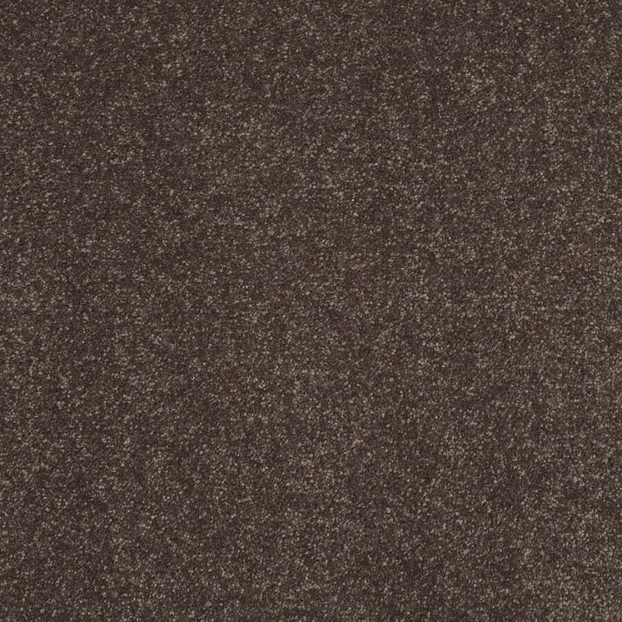 Shaw Cornerstone Collection 12-ft W Brown/Tan Textured Interior Carpet