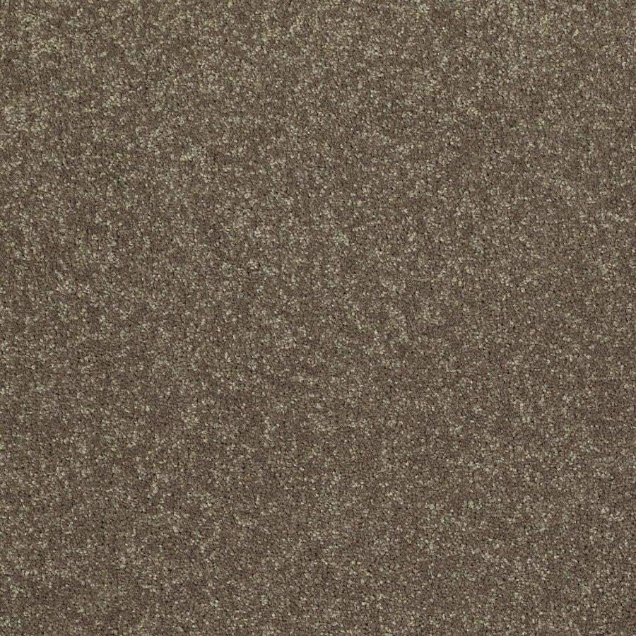Shaw Cornerstone Collection Green Textured Indoor Carpet