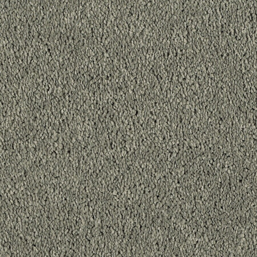 Shaw Essentials Soft and Cozy I S 12-ft W x Cut-to-Length Steel Textured Interior Carpet