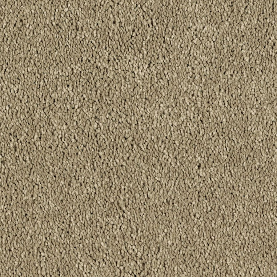 STAINMASTER Essentials Soft and Cozy II S 12-ft W x Cut-to-Length True Tan Textured Interior Carpet