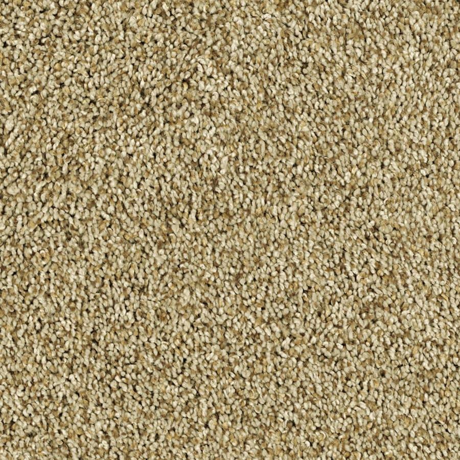 Shaw Essentials Soft and Cozy II- T 12-ft W Golden Oak Textured Interior Carpet