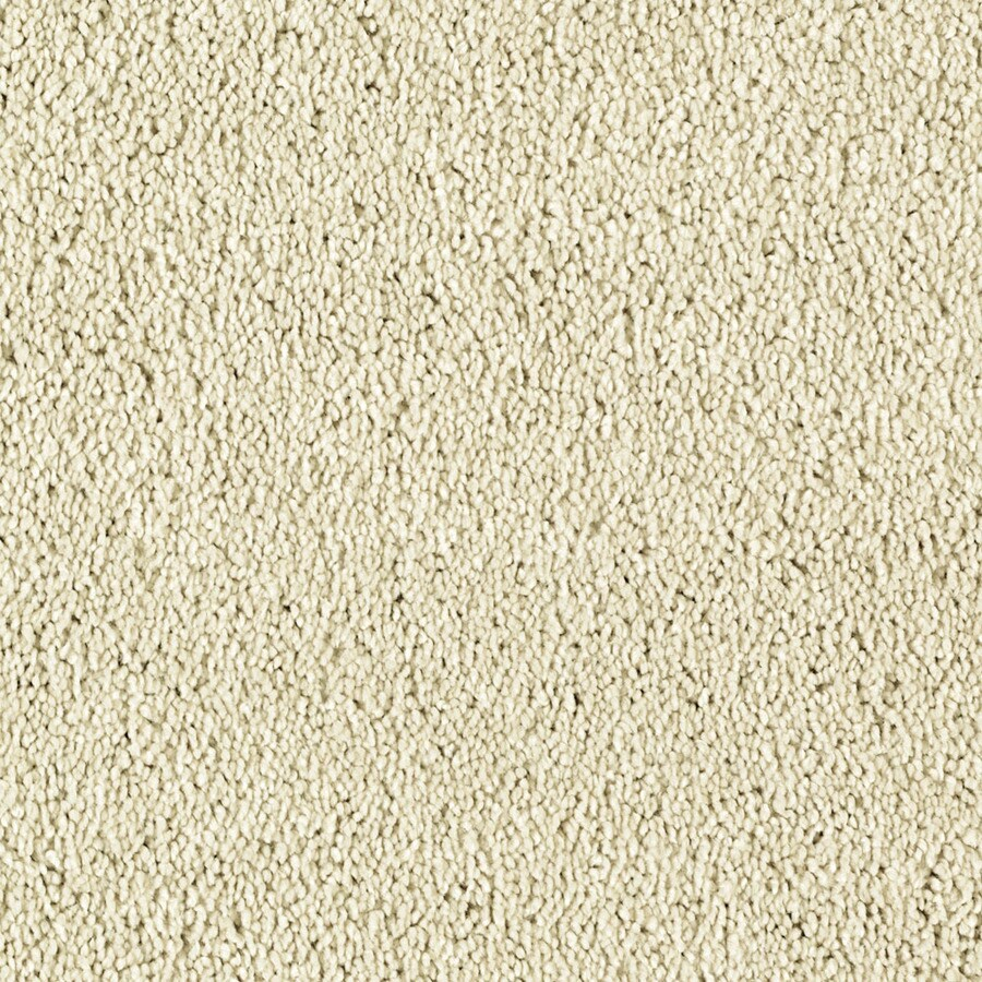 Shaw Essentials Soft and Cozy III S 12-ft W x Cut-to-Length Ivory Tusk Textured Interior Carpet