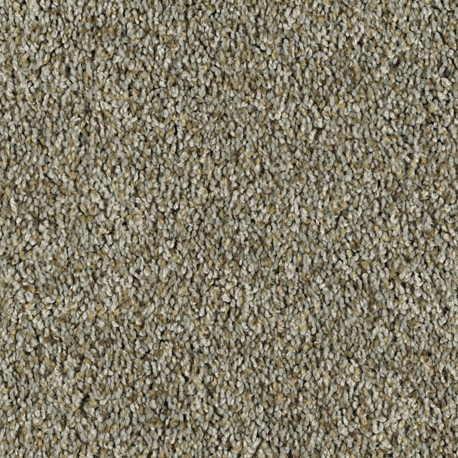 Shaw Essentials Soft and Cozy III (T) 12-ft W Brushed Nickel Textured Interior Carpet