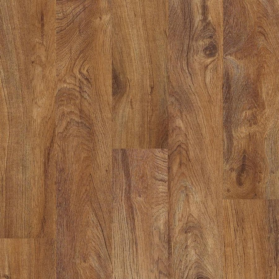 Shaw 14-Piece 5.9-in x 48-in Resort Teak Locking Luxury Vinyl Plank Residential Vinyl Plank