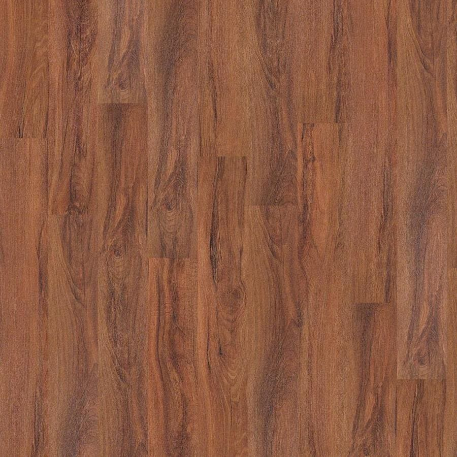 Shaw 27-Piece 6-in x 48-in Fiery Brown Adhesive Luxury Vinyl Plank
