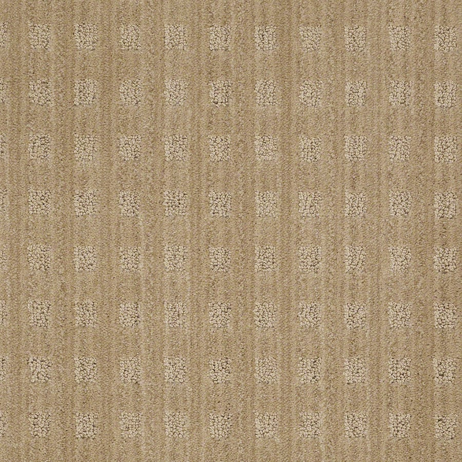 STAINMASTER Active Family Apricot Lane 12-ft W Crushed Cashew Berber/Loop Interior Carpet