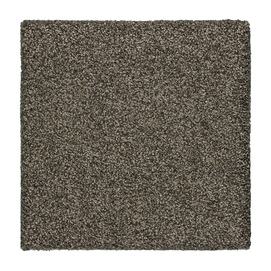 STAINMASTER Essentials Stone Peak I 12-ft W x Cut-to-Length Organic Jade Textured Interior Carpet