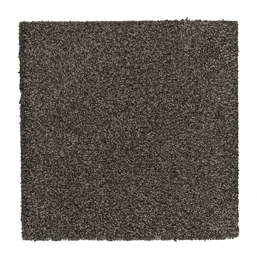 STAINMASTER Essentials Stone Peak I 12-ft W x Cut-to-Length Earthy Emerald Textured Interior Carpet