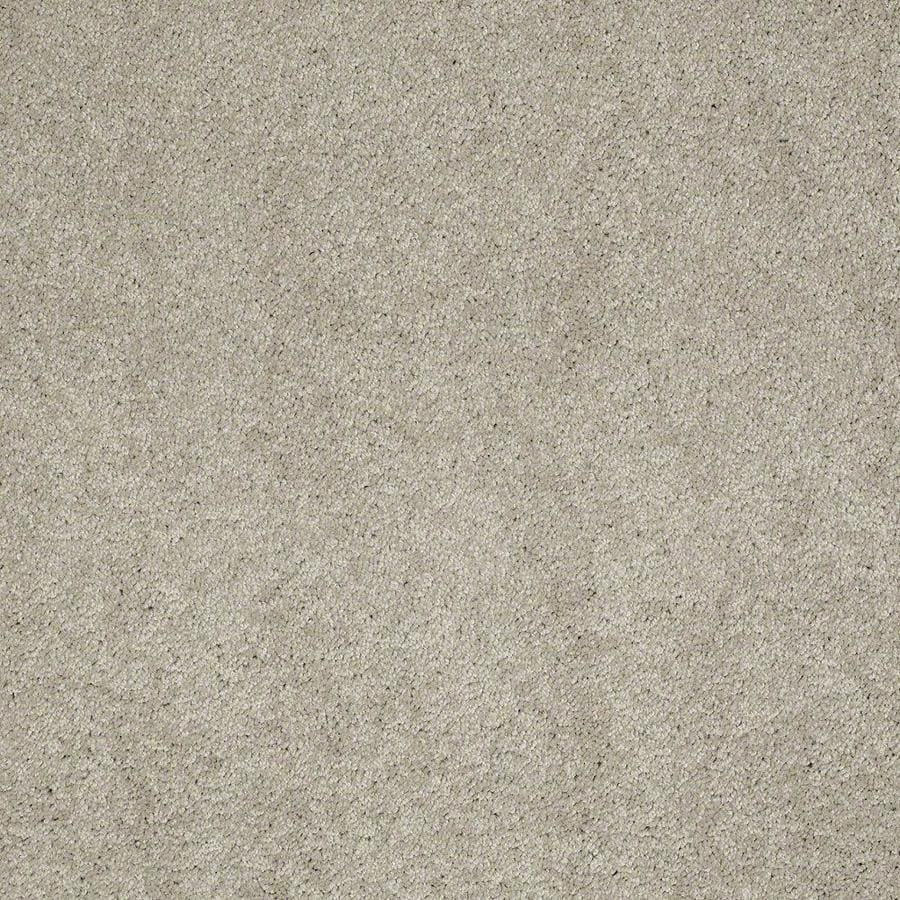 STAINMASTER Active Family Supreme Delight 3 12-ft W x Cut-to-Length Limestone Textured Interior Carpet