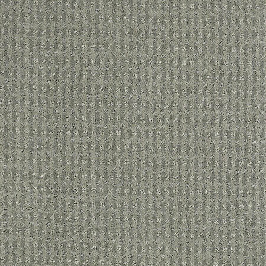 STAINMASTER Active Family St John Fog Green Berber Indoor Carpet