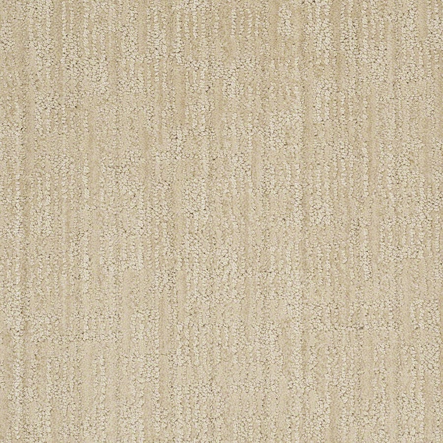 STAINMASTER Active Family Unmistakable Ivory Oats Berber/Loop Interior Carpet