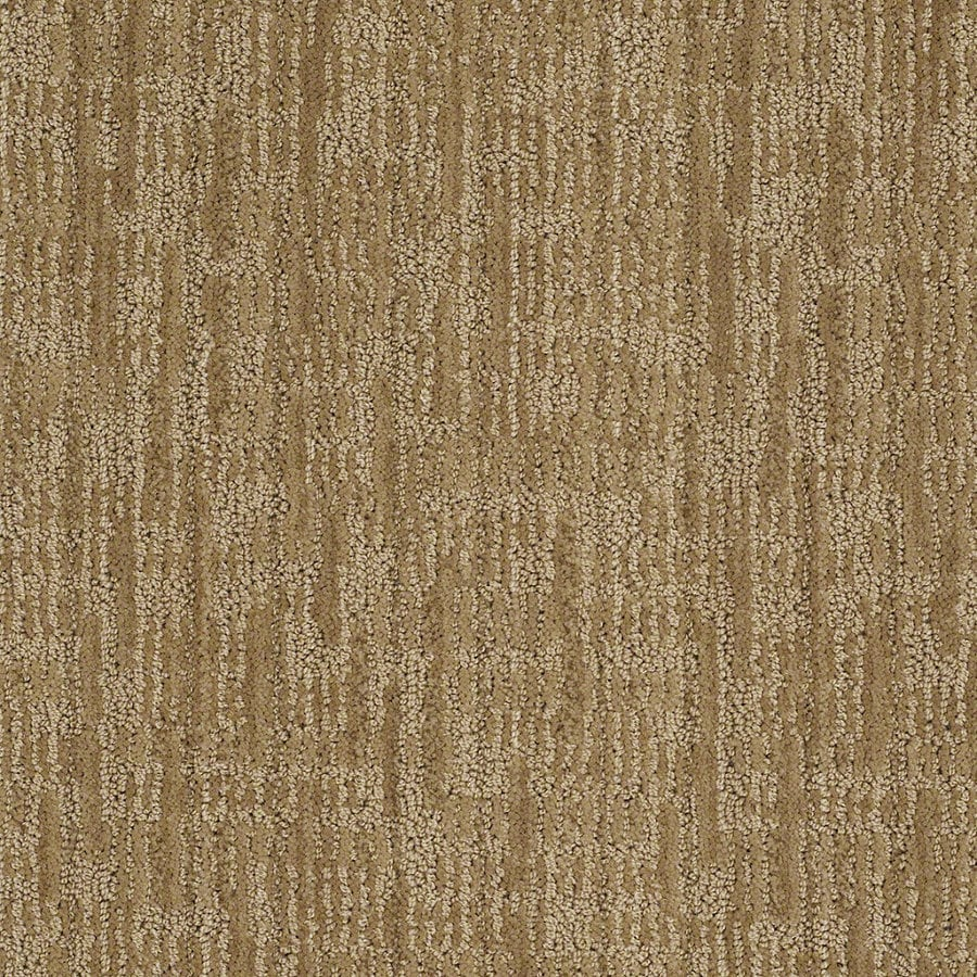 STAINMASTER Active Family Unmistakable 12-ft W x Cut-to-Length Vintage Gold Berber/Loop Interior Carpet