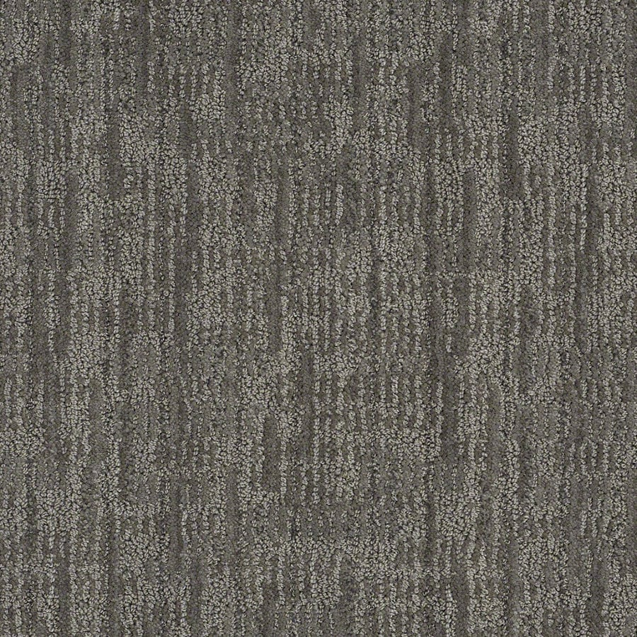 STAINMASTER Active Family Unmistakable 12-ft W x Cut-to-Length Power Gray Berber/Loop Interior Carpet