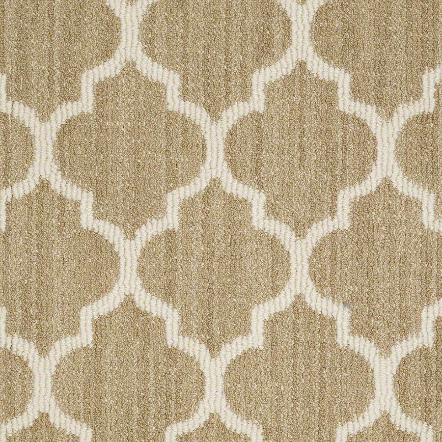 STAINMASTER Active Family Rave Review Desert Tan Berber/Loop Interior Carpet
