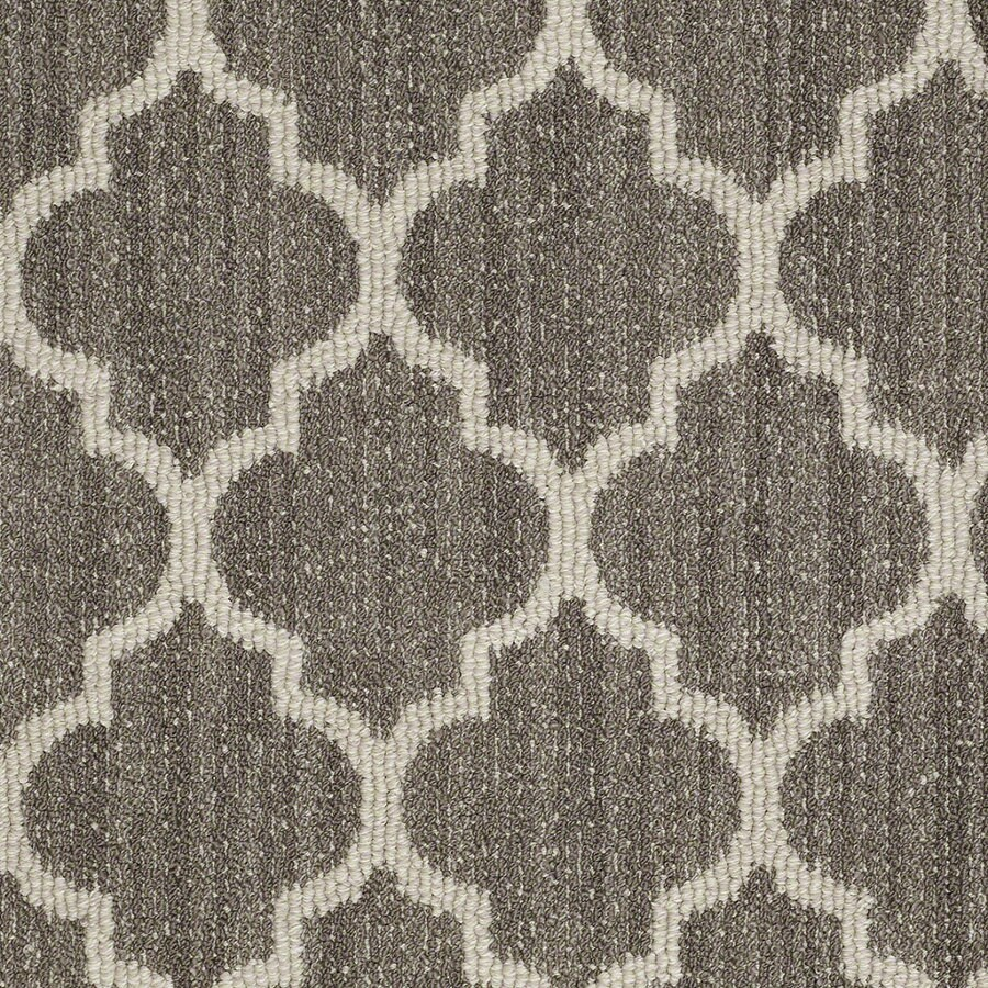 STAINMASTER Active Family Rave Review 12-ft W x Cut-to-Length Windsor Gray Berber/Loop Interior Carpet