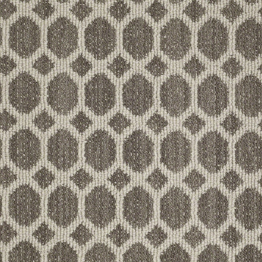 STAINMASTER Active Family All The Rage Windsor Gray Berber/Loop Interior Carpet