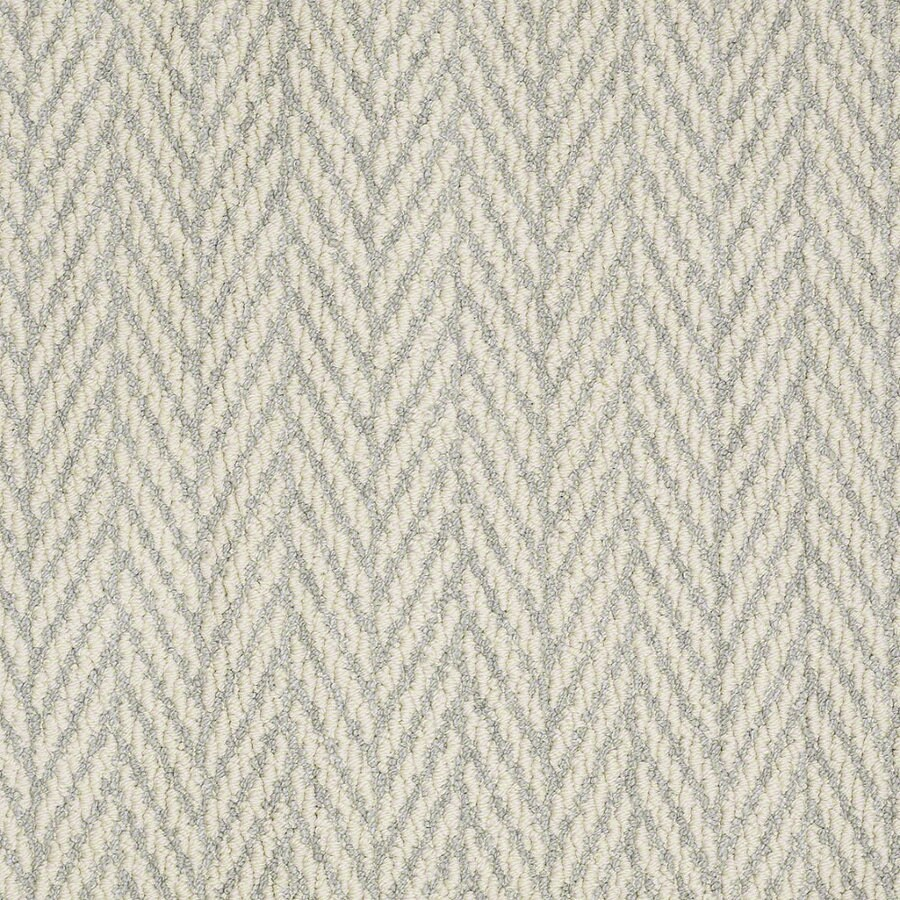 STAINMASTER Active Family Apparent Beauty 12-ft W x Cut-to-Length Silver Spruce Berber/Loop Interior Carpet
