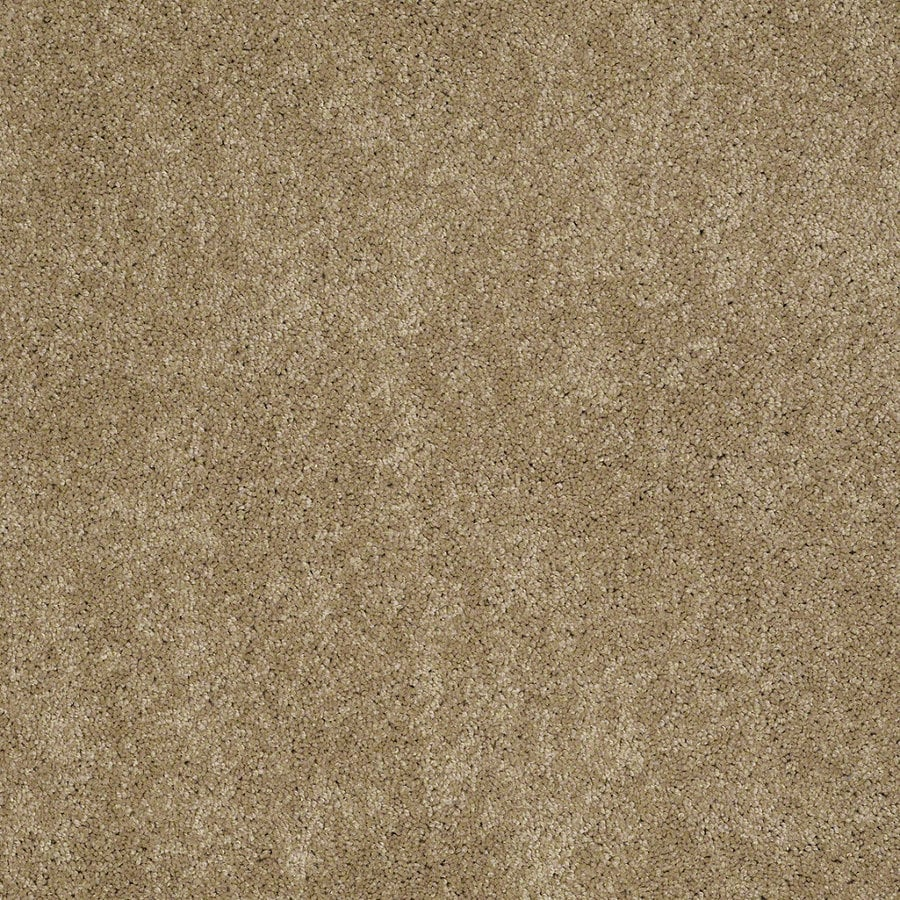 Shaw Supreme Delight 1 Peanut Butter Rectangular Indoor Tufted Area Rug (Common: 6 x 9; Actual: 72-in W x 108-in L)