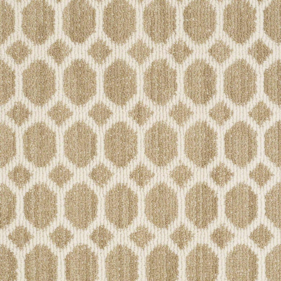 Shaw All The Rage Desert Tan Rectangular Indoor Tufted Area Rug (Common: 8 x 11; Actual: 96-in W x 132-in L)