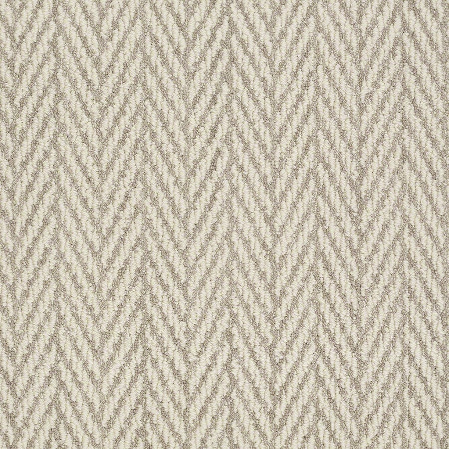Shaw Apparent Beauty Plaza Taupe Rectangular Indoor Tufted Area Rug (Common: 6 x 9; Actual: 72-in W x 108-in L)