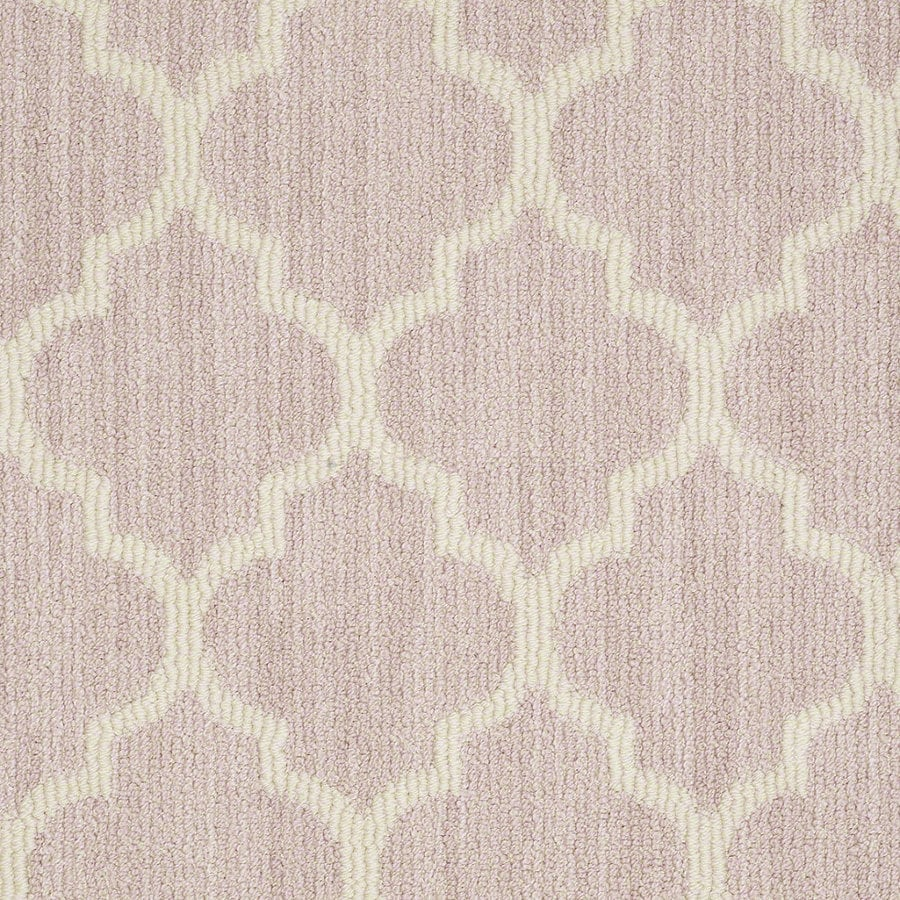 Shaw Rave Review Sweet Pink Rectangular Indoor Tufted Area Rug (Common: 8 x 11; Actual: 96-in W x 132-in L)