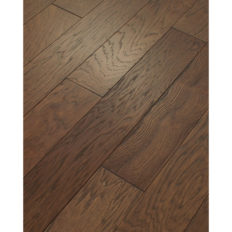 shop style selections 5-in mocha engineered hickory hardwood