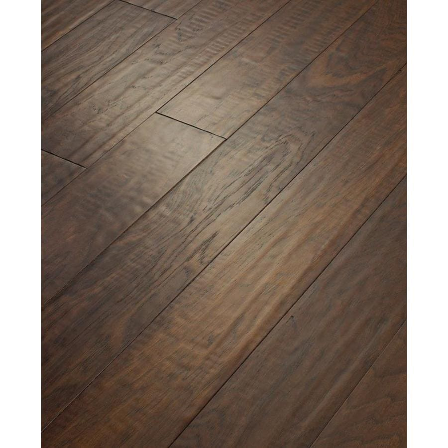 shop style selections 5-in mink engineered hickory hardwood