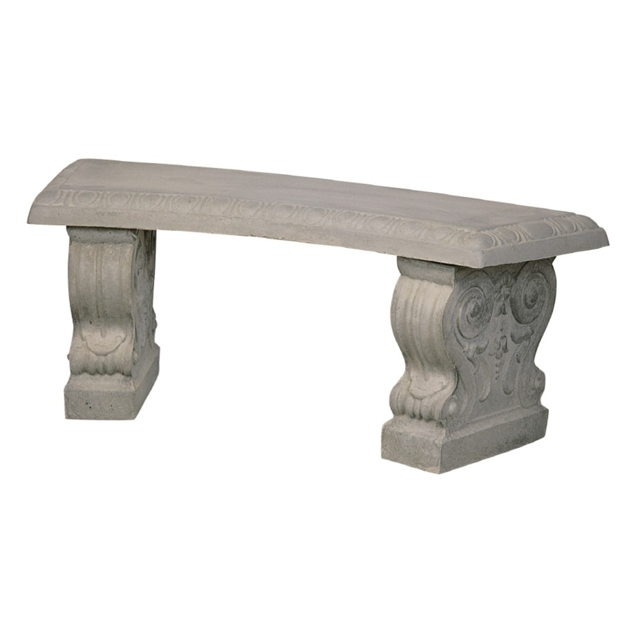 Shop 15-in W x 43-in L Concrete Patio Bench at Lowes.com