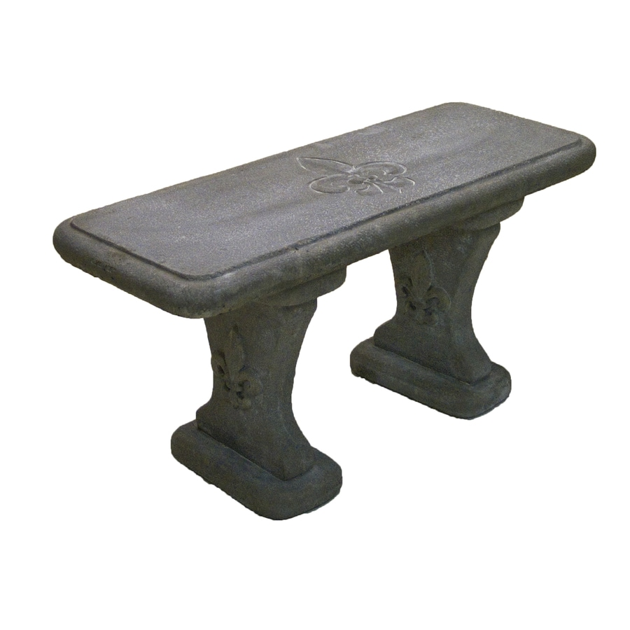 14-in W x 36-in L Concrete Patio Bench