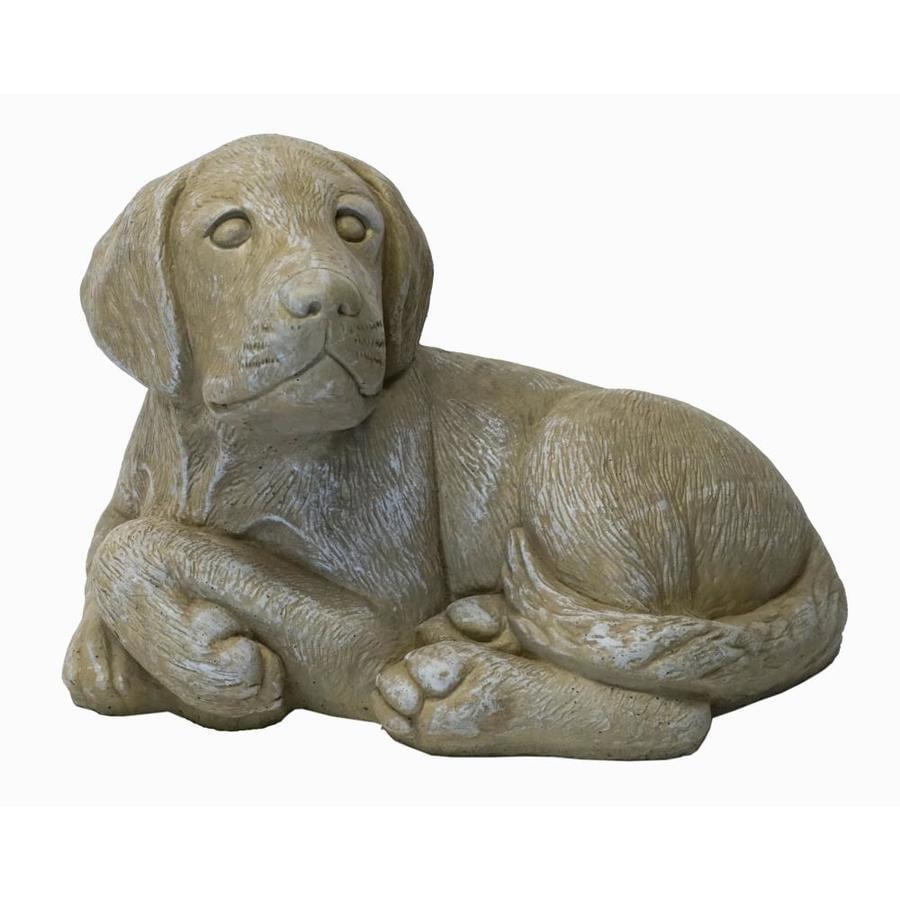 Realistic Faithful Friend Yellow Labrador Dog Indoor//Outdoor Garden Statue