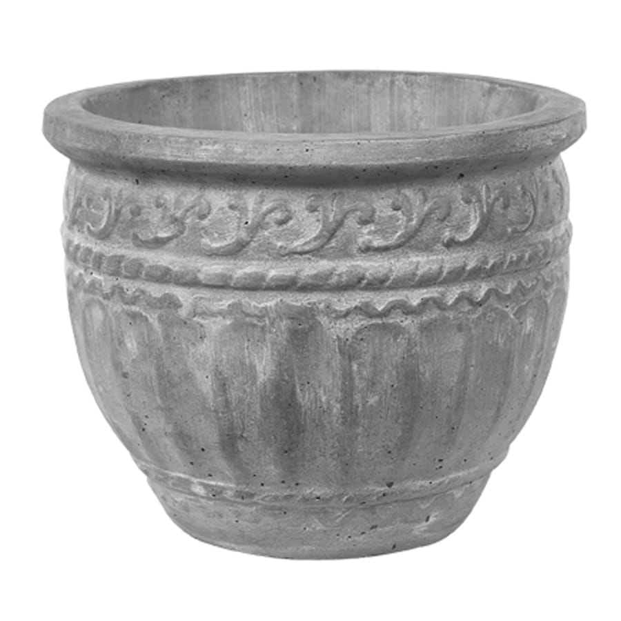 14-in H x 18-in W x 13-in D Tobacco Road Concrete Outdoor Planter