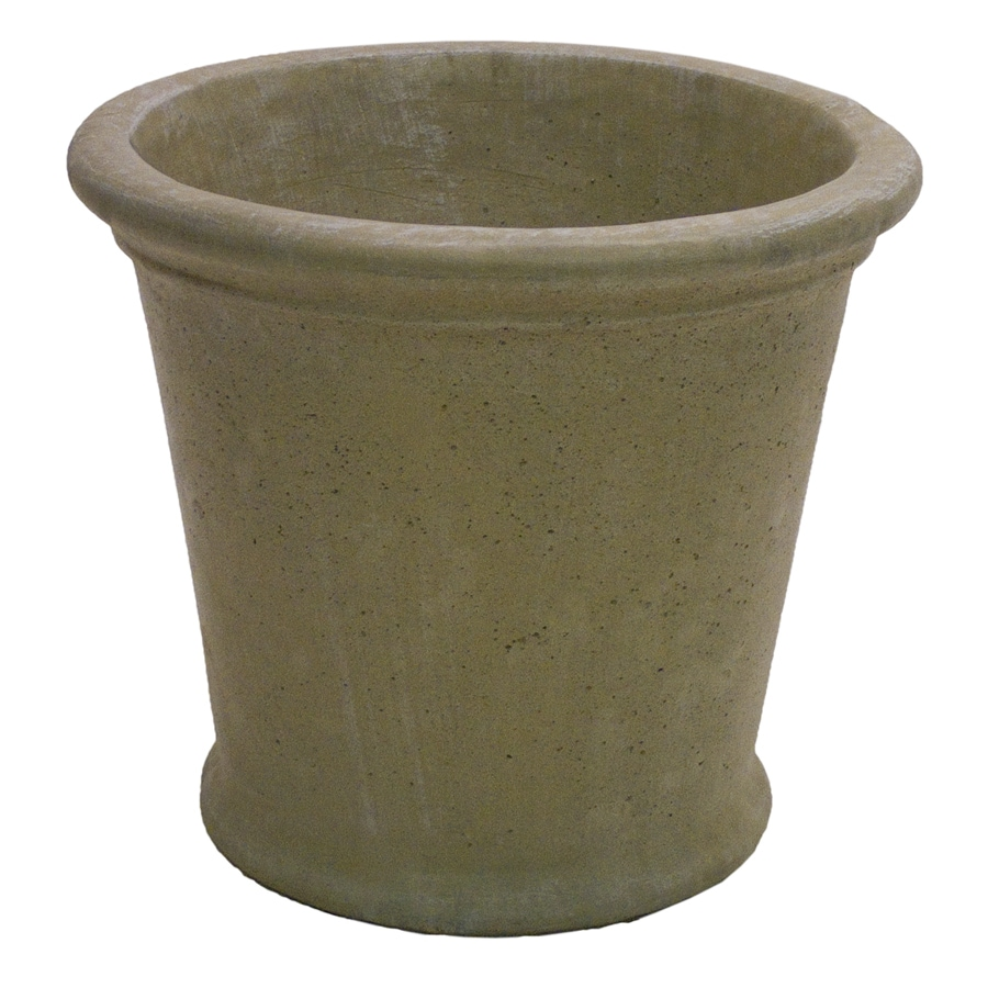 Shop 17 in x 15 in desert sand concrete planter at Concrete planters