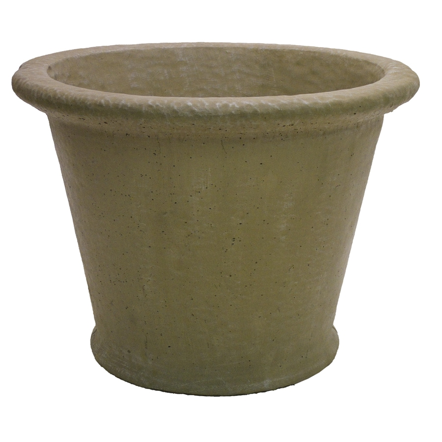 27-in x 20-in Desert Sand Concrete Planter