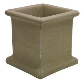 14-in W x 14-in H Desert Sand Concrete Planter