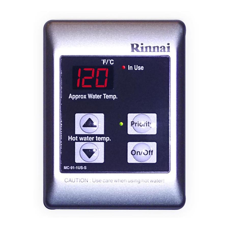 Rinnai Tankless Gas Water Heater Controller