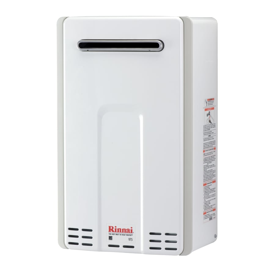 Shop rinnai 40 gpm 91300 btu 1 year limited natural gas Natural gas water heater