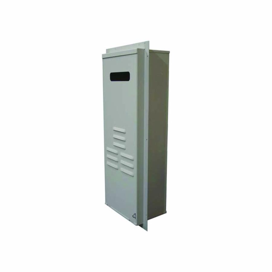 rinnai tankless gas steel water heater recess box at. Black Bedroom Furniture Sets. Home Design Ideas