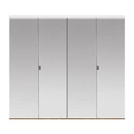 Reliabilt Flush Mirror Bi Fold Closet Interior Door Common 36 In X 80 In Actual 36 In X 78 56 In In The Closet Doors Department At Lowes Com