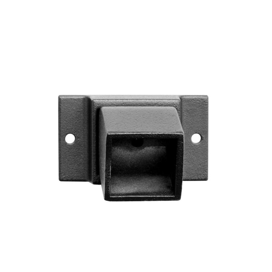 Jerith Pre-assembled Black Aluminum Fence Mounting Bracket