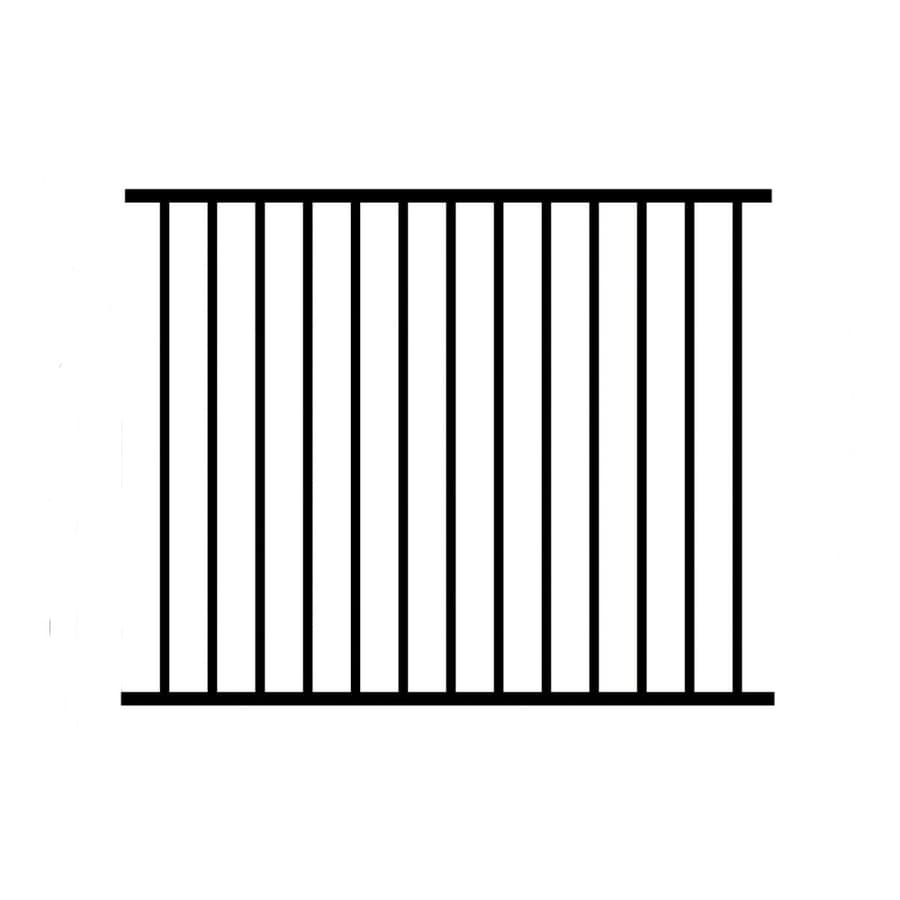 Jerith (Common: 4-ft x 6-ft; Actual: 4-ft x 6-ft) Unassembled Paris 4-Pack Black Aluminum Decorative Fence Panel