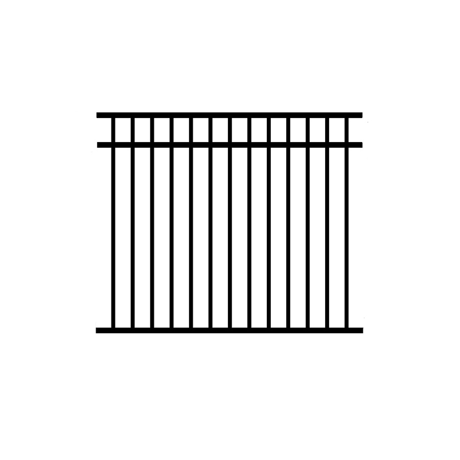 Jerith (Actual: 4.5-ft x 6-ft) Unassembled Madrid 4-Pack Black Aluminum Decorative Fence Panel
