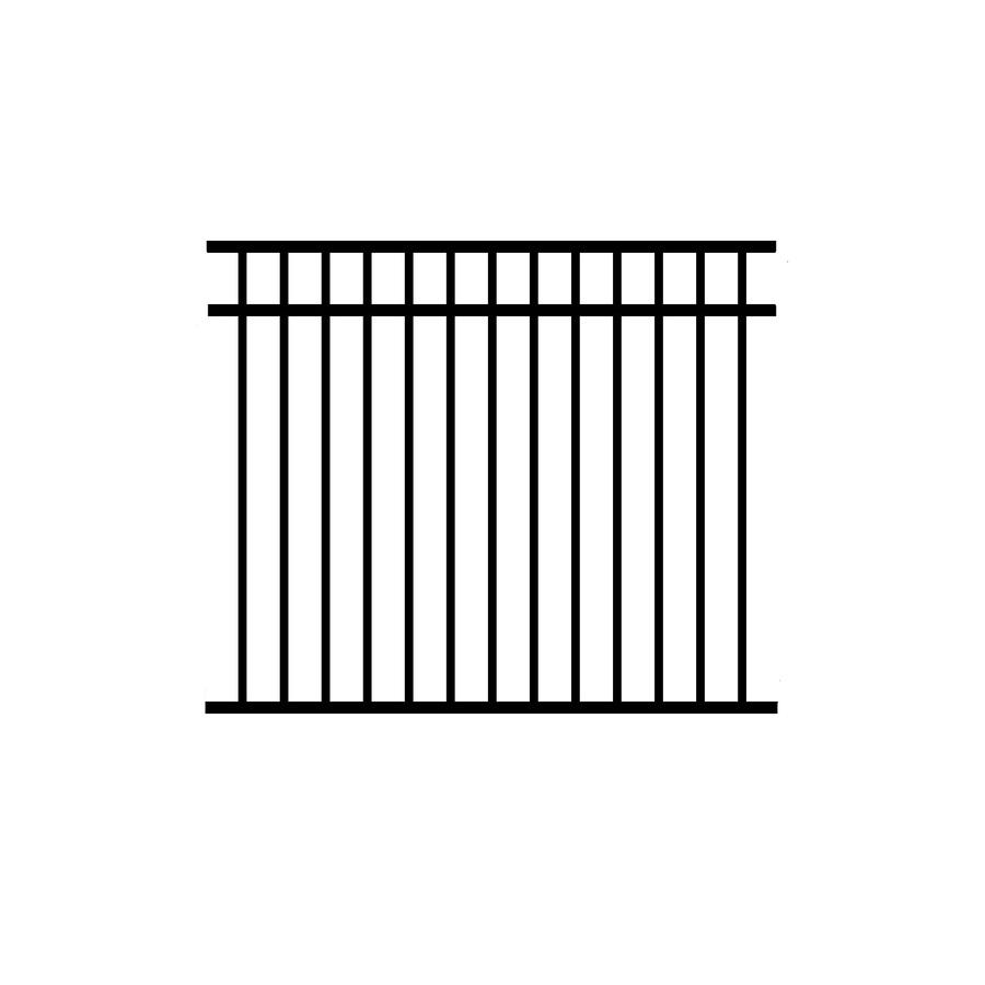 Jerith Black Aluminum Decorative Fence Panel