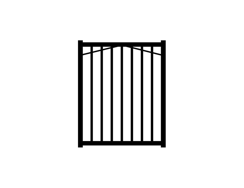 Jerith (Common: 4-ft x 3-ft; Actual: 4-ft x 3-ft) Paris Black Aluminum Decorative Fence Gate