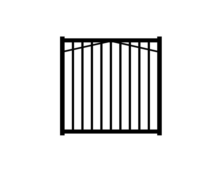 Jerith (Common: 4-ft x 4-ft; Actual: 4-ft x 4-ft) Paris Black Aluminum Decorative Fence Gate