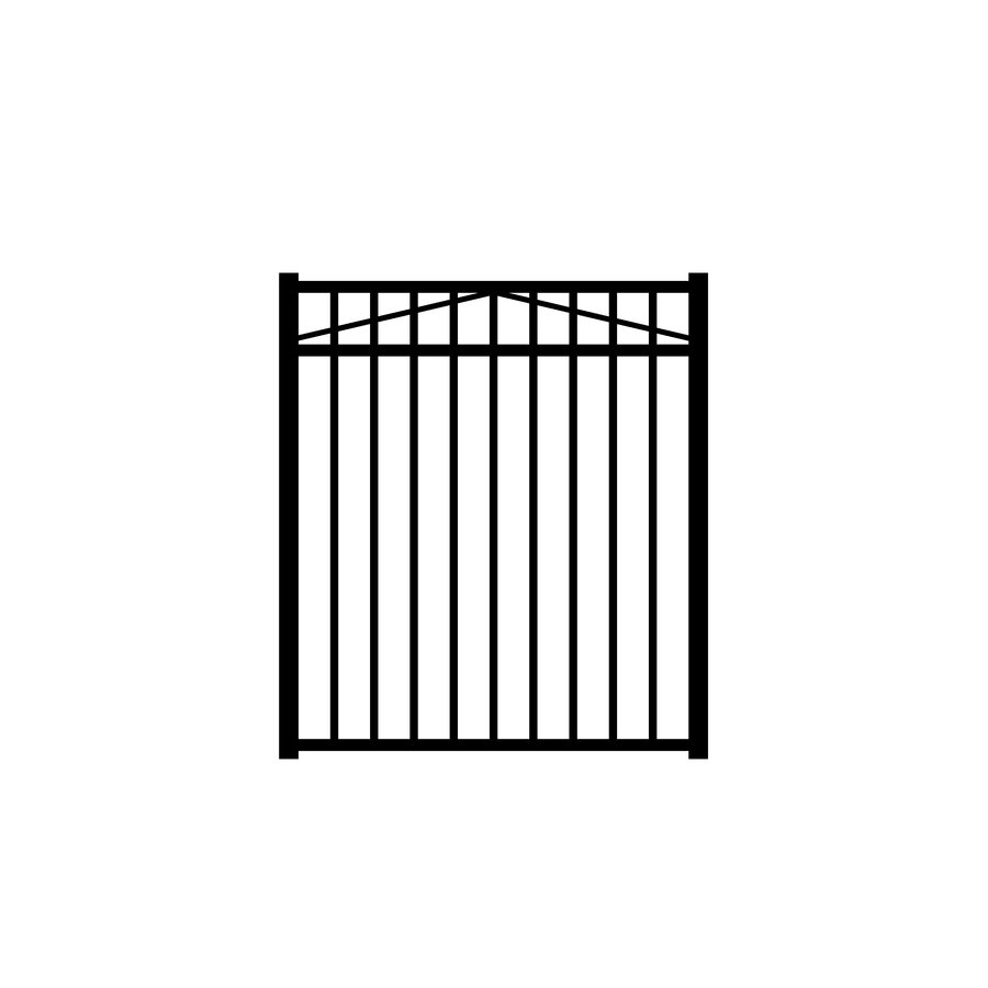 Jerith Black Metal Decorative Metal Fence Gate