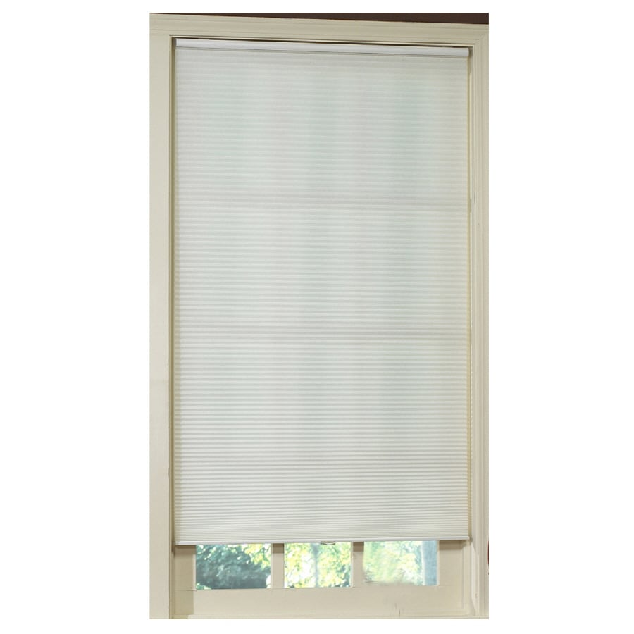 allen + roth White Light Filtering Cordless Polyester Cellular Shade (Common 23.0-in; Actual: 23.0-in x 72.0-in)