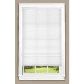 white window shades woven allen roth white light filtering cordless polyester cellular shade common 27in window shades at lowescom